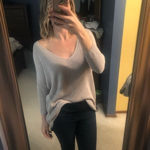 Express scoopneck oversized sweater